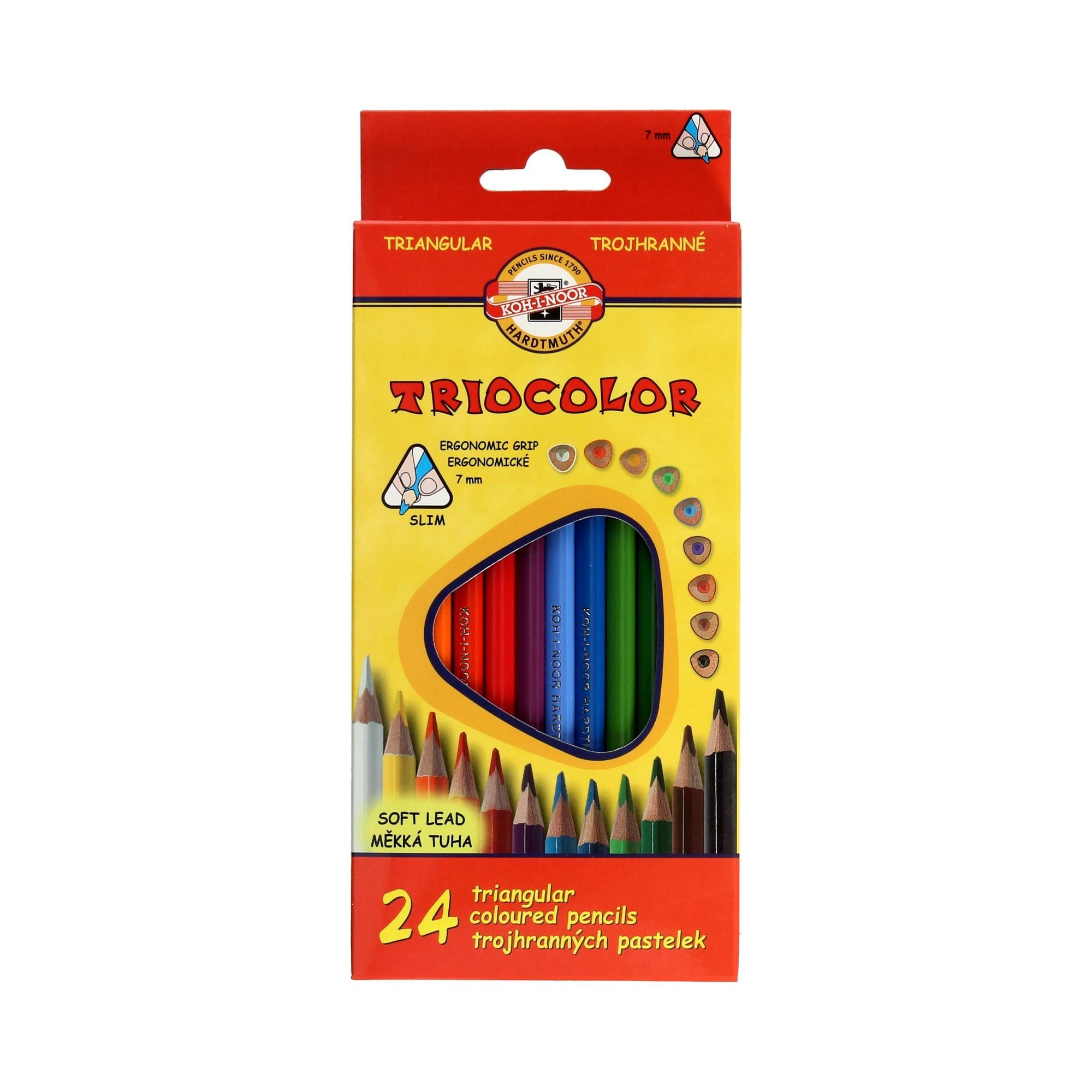 Kredki ołówkowe 24kol 7mm Tricolor KIN 3134