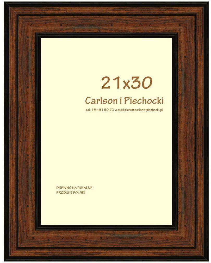Ramka na zdjęcia Carre 21 x 30 cm orzech drewniana