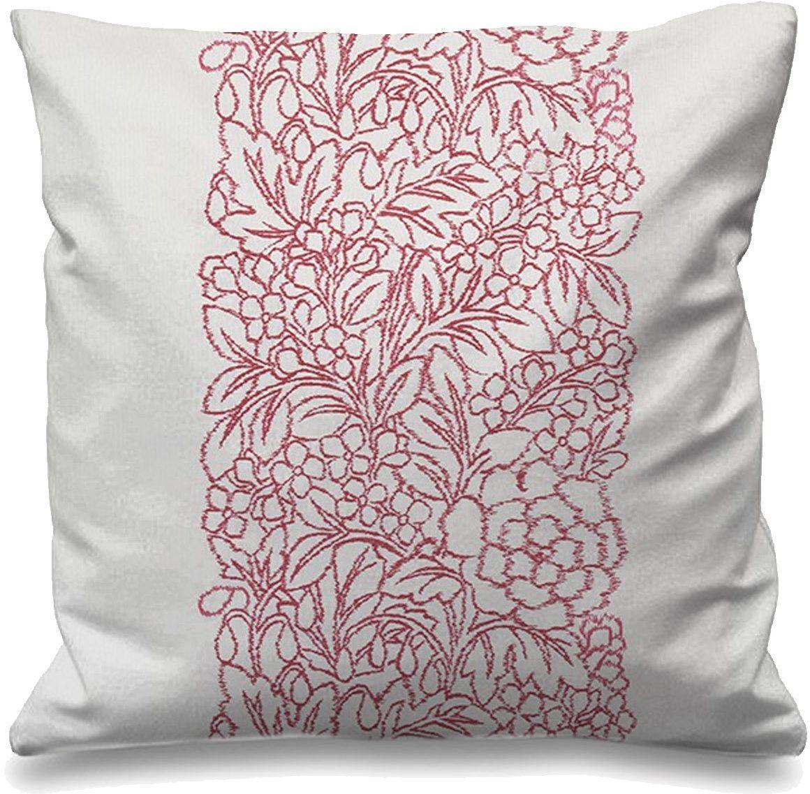 Rufflette PASSCUSH16 poduszka passion Amore, różowy kwiat bawełny, 50 x 50 x 50 cm