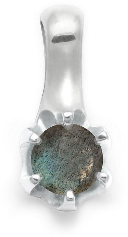 Kuźnia Srebra - Zawieszka srebrna, 16mm, Labradoryt, 1g, model
