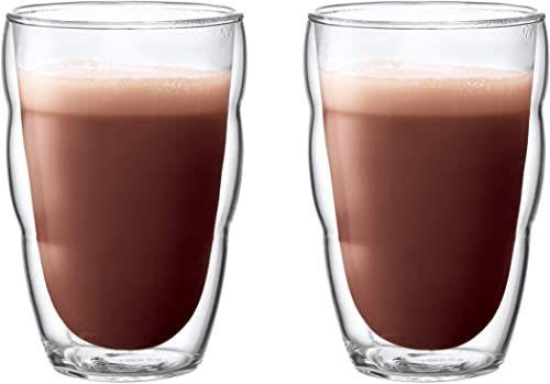 Bodum 10485-10 Pilatus 2-częściowy zestaw szklanek (podwójne ścianki, izolowane, nadają się do mycia w zmywarce, 0,35 litra), przezroczyste