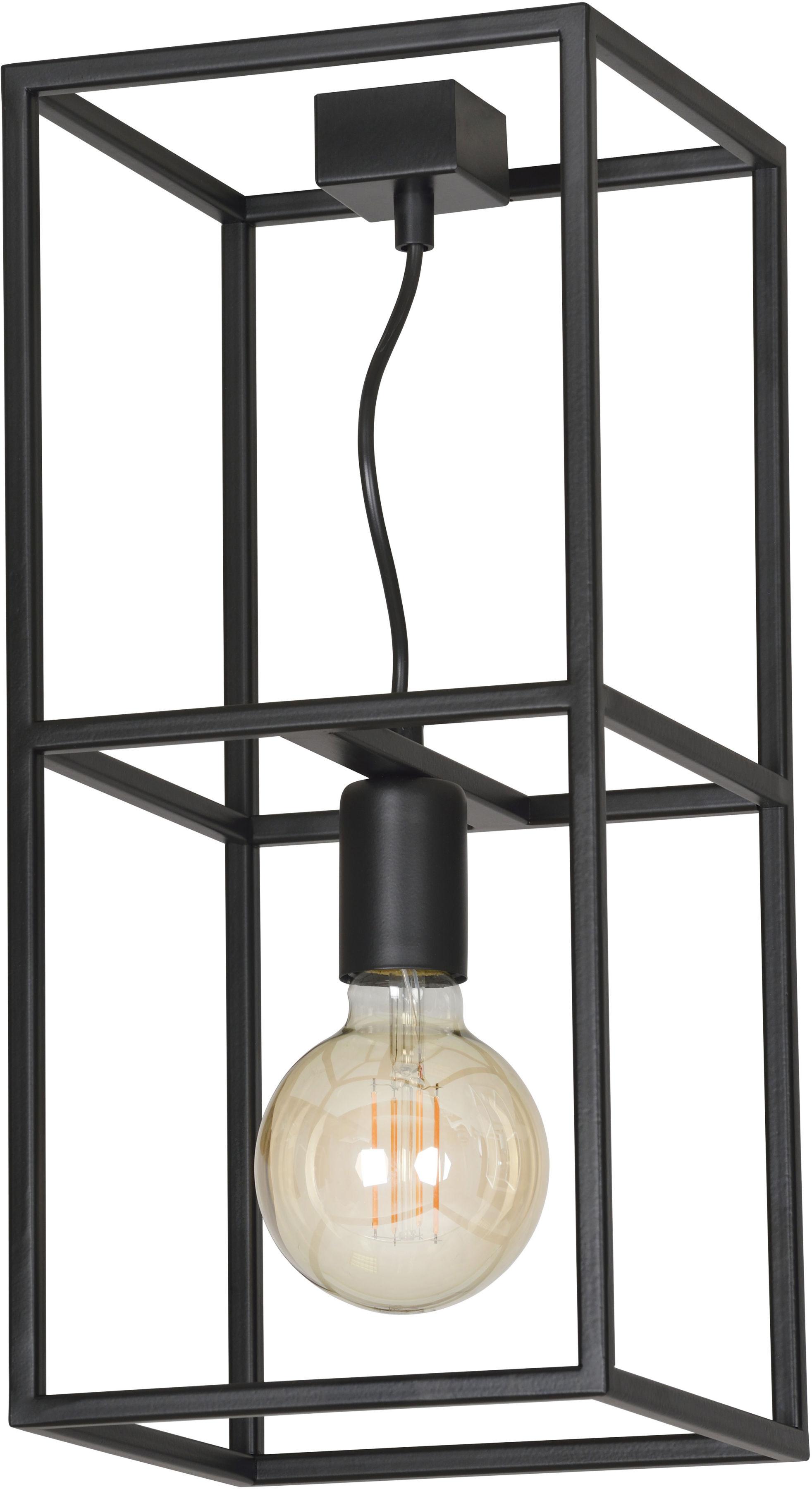 Emibig OMIKRON 1 BLACK 146/1 plafon lampa sufitowa ramka klatka w stylu loft czarna 1x60W E27 44cm