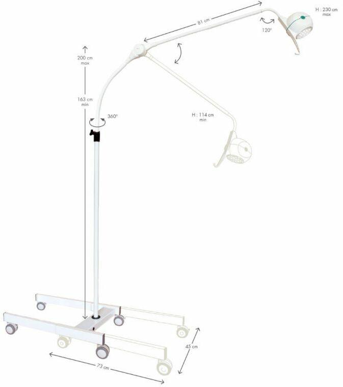 Lampa Medyczna Bezcieniowa BELLON LED 22W