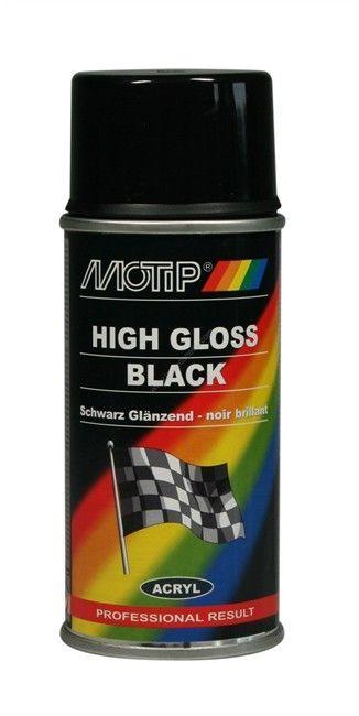 Lakier akrylowy połysk Motip 150 ml czarny Darmowa dostawa