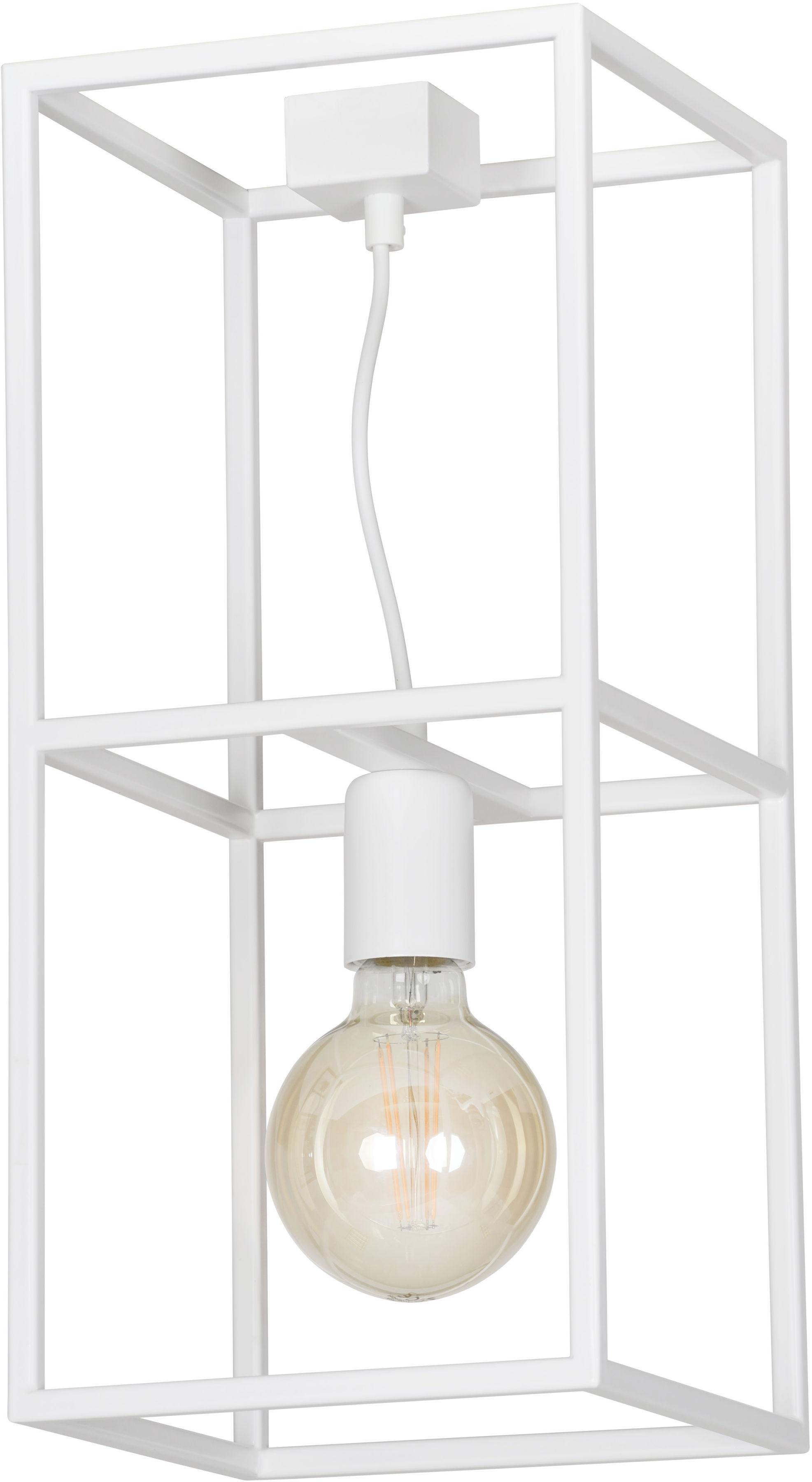Emibig OMIKRON 1 WHITE 147/1 plafon lampa sufitowa ramka klatka w stylu loft biała 1x60W E27 44cm