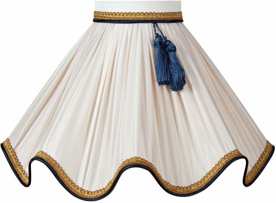 Klosz lampy z kołnierzem, średnica 25 x 08 x 14 cm, niebieski