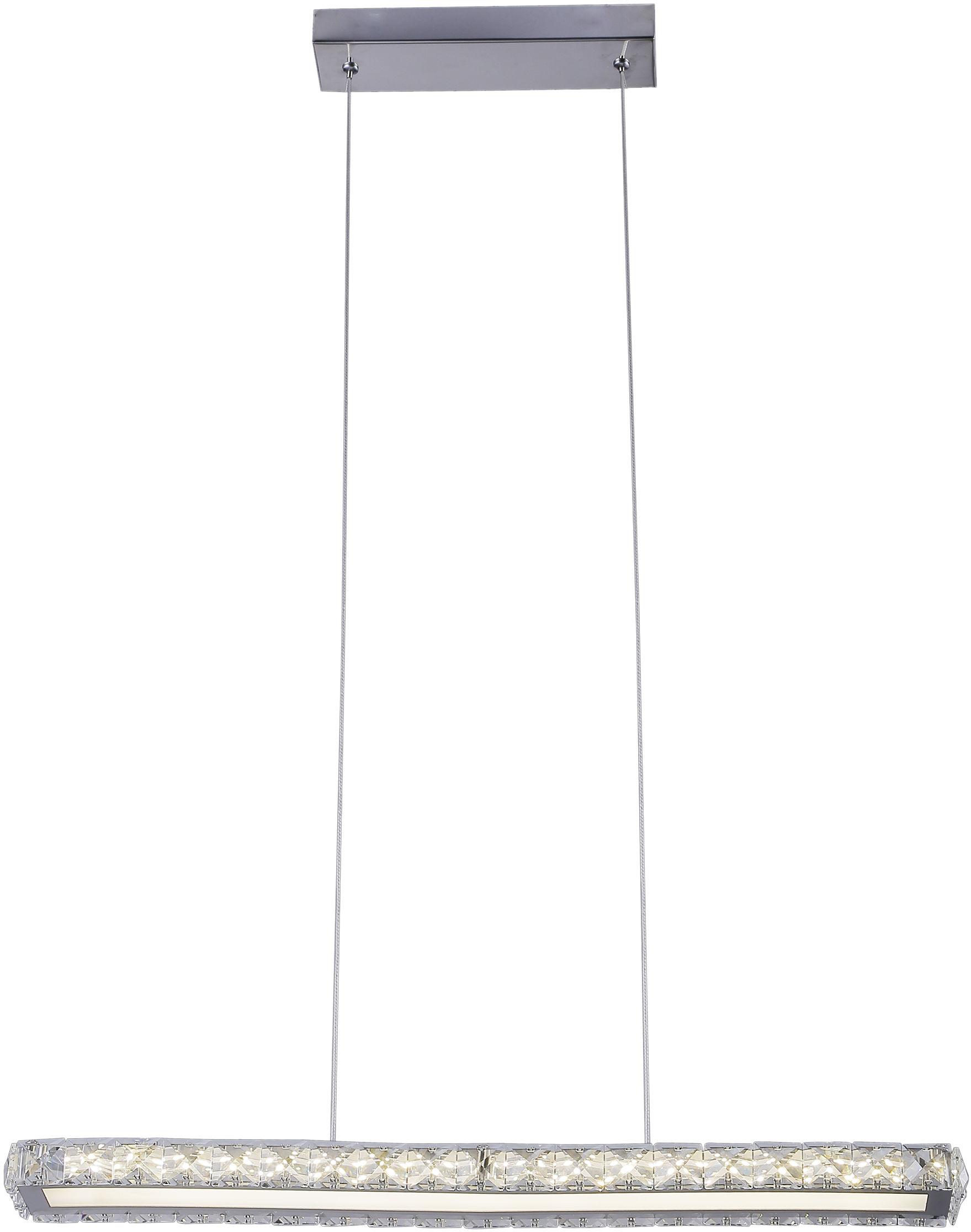 Candellux SYMPHONY 31-55743 lampa wisząca chrom kryształy LED 20W 4000K 60cm