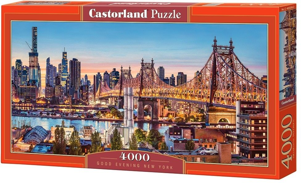 Puzzle Castor 4000 - Dzień dobry New York, Good Evening New York