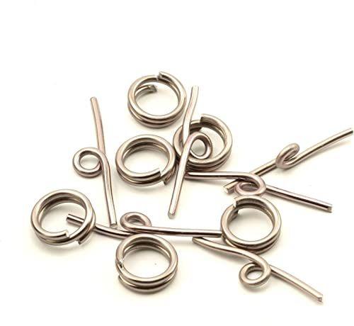 Vaessen Creative Aluminiowe zamknięcie z przetyczką szare 6 sztuk, aluminium, antracyt, 0,5 x 0,5 x 0,2 cm