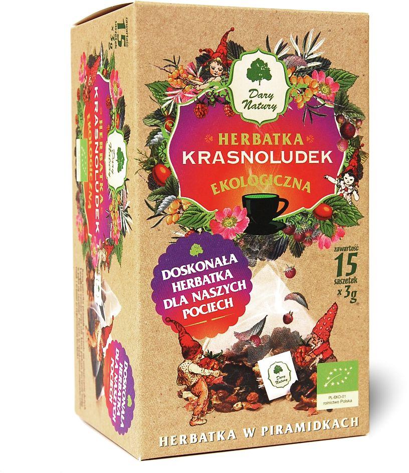 Herbatka dla dzieci krasnoludek piramidki bio 15 x 3 g - dary natury
