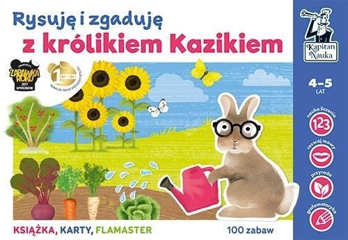 Kapitan Nauka.Rysuję i zgad. z królikiem Kazikiem ZAKŁADKA DO KSIĄŻEK GRATIS DO KAŻDEGO ZAMÓWIENIA