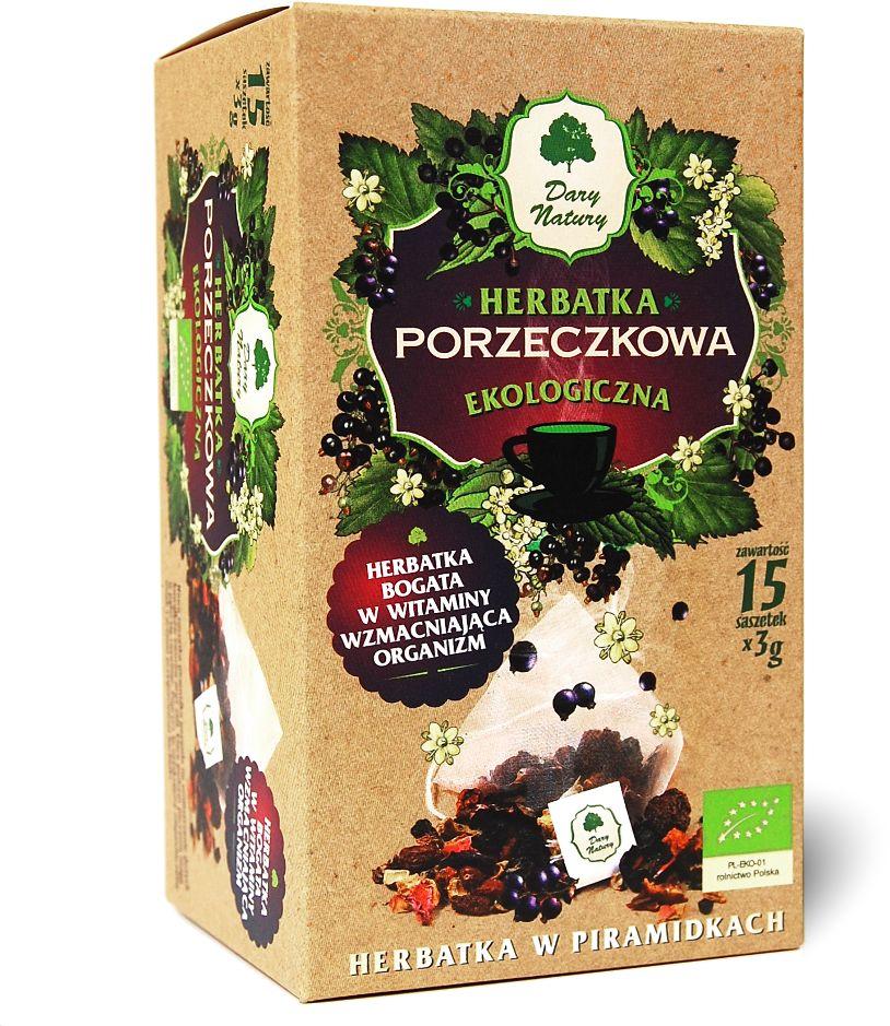 Herbatka porzeczkowa piramidki bio 15 x 3 g - dary natury