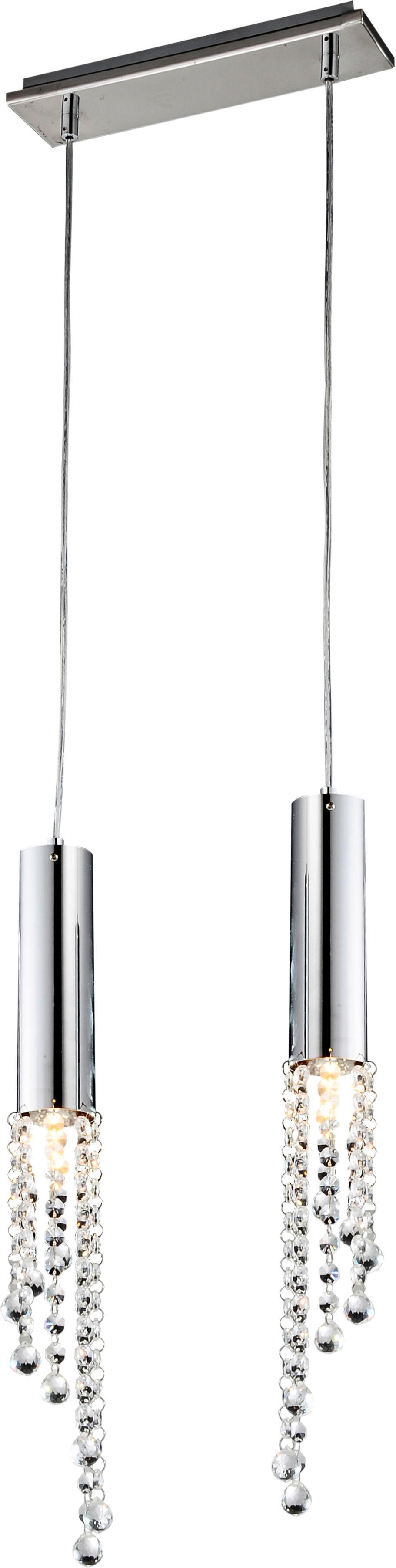 Candellux DUERO 32-25265 lampa wisząca podwójna chrom kryształy 2X3W LED GU10 31cm
