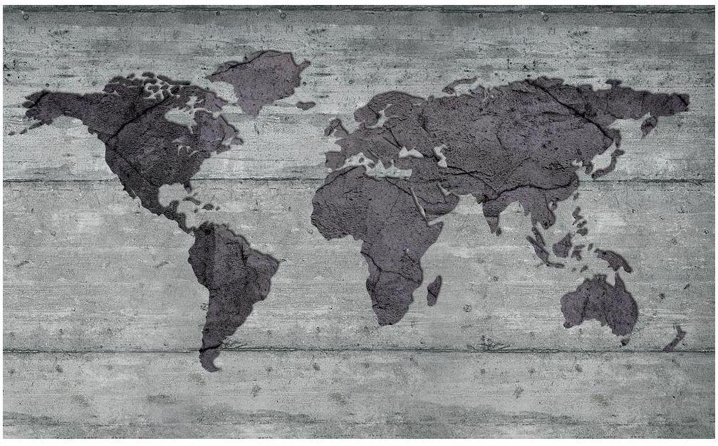 Fototapeta Mapa Szara 312 x 219 cm