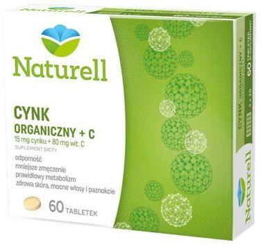 Naturell Cynk organiczny 15mg + witamina C 80mg 60 tabletek + Naturell witamina C dla dzieci 20tabl.