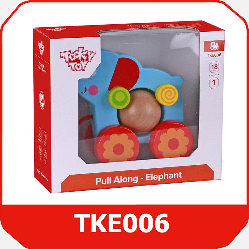Tooky Toy SŁOŃ Z KULKĄ DO CIĄGNIĘCIA TKE006