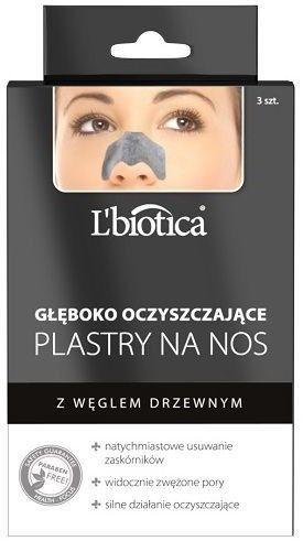 LBIOTICA Plastry na nos głęboko oczyszczające 3 sztuki