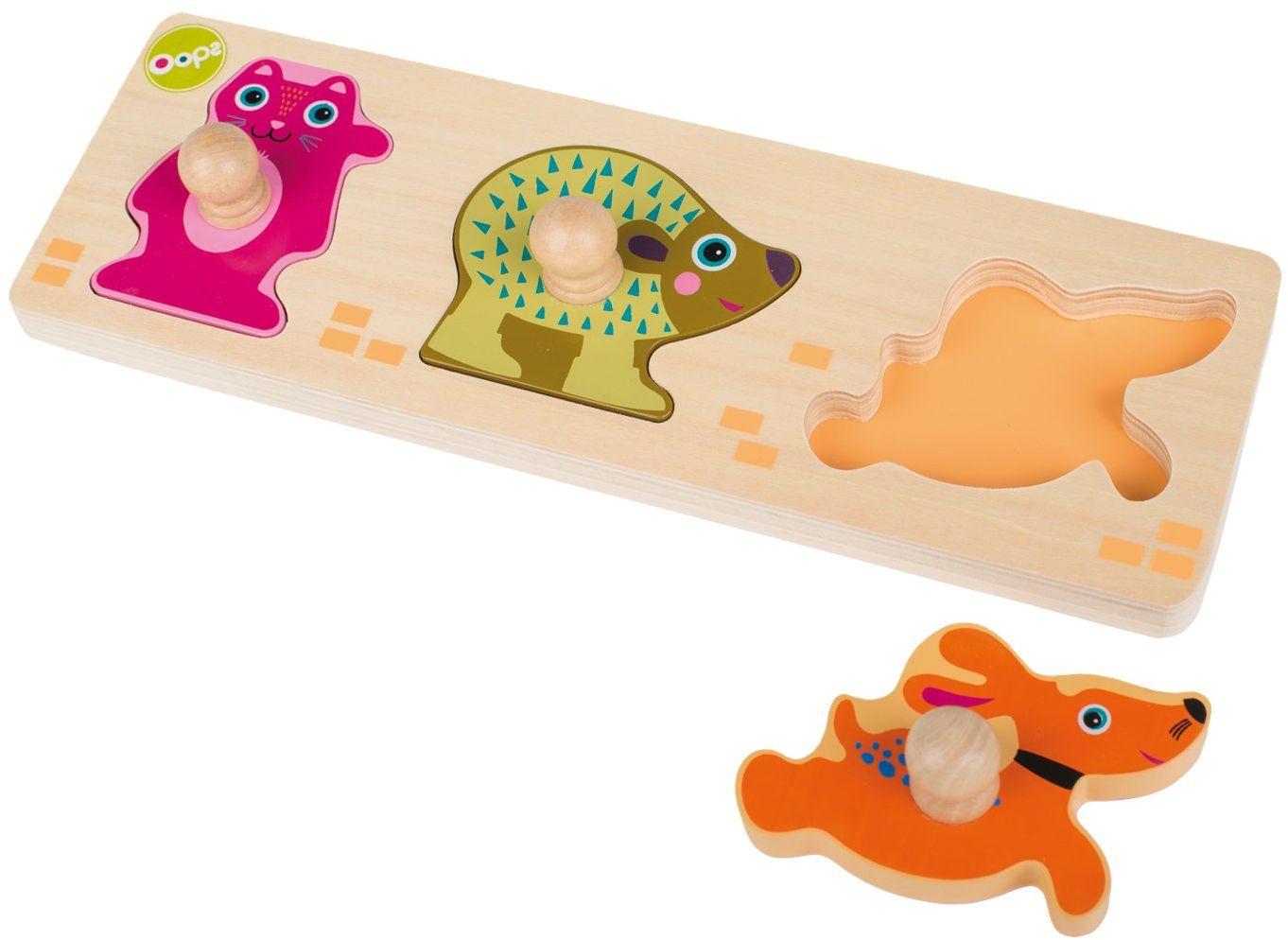 OOPS 16010.20 Drewniana kolekcja miasto łatwe do sortowania zabawki, wielokolorowe