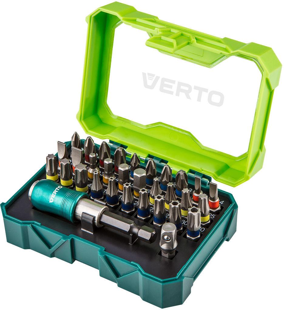 Zestaw bitów 32 szt., 25 mm - 4 x PH, 4 x PZ, 4 x SL, 4 x HEX, 7 x TX, 7 x TT + uchwyt magnetyczny