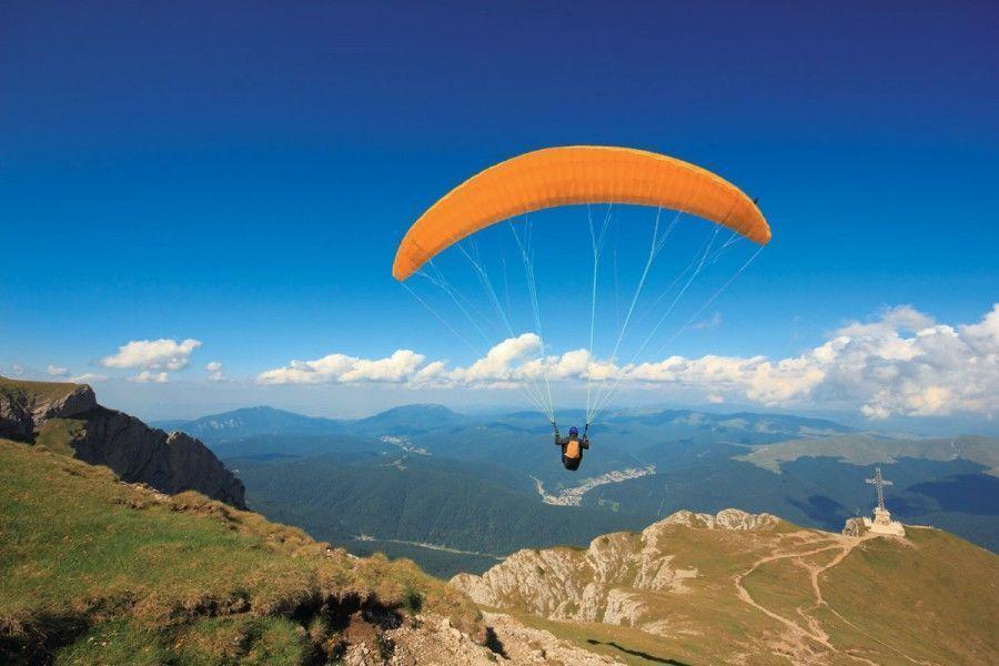 Lot paralotnią - Zielona Góra - motoparalotnia 15 minut