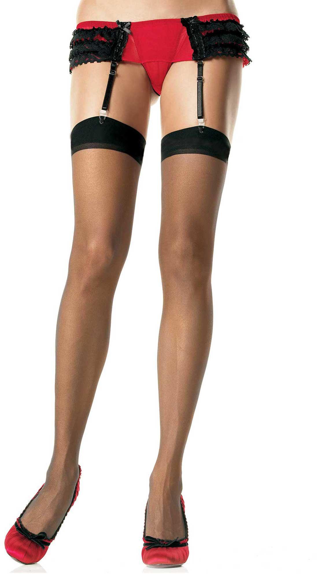 Leg Avenue Sheer Stockings 1001 Black