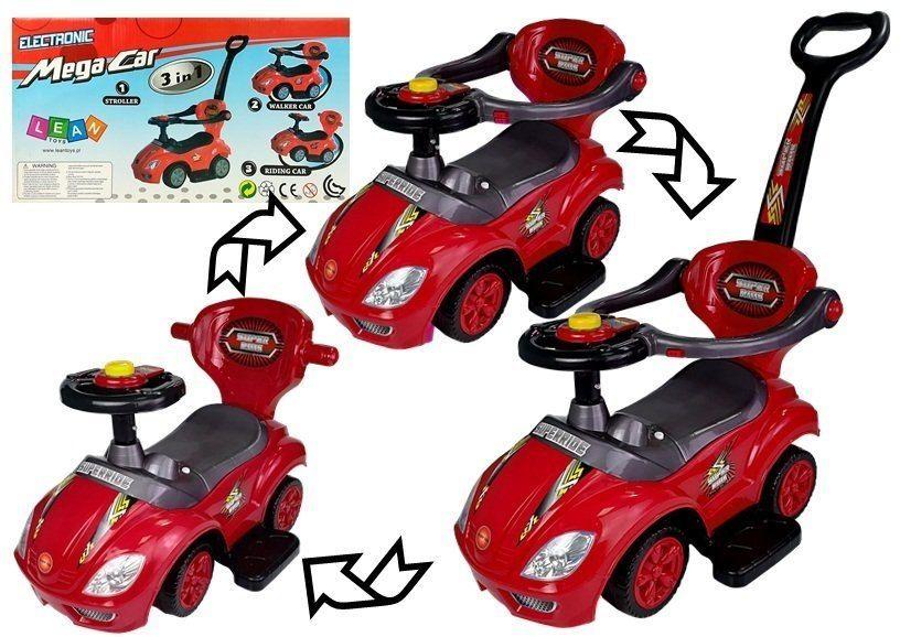 Jeździk z Pchaczem Mega Car 3w1 Czerwony