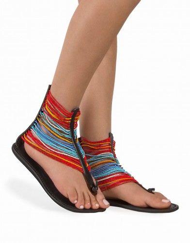 Sandały skórzane Gladiatorki Maasai