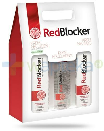 RedBlocker krem na dzień 50 ml + krem na noc 50 ml + płyn micelarny 200 ml [ZESTAW]