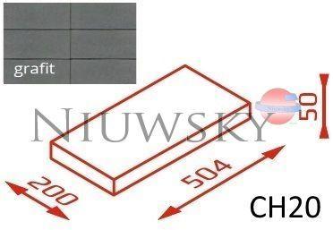 Daszek na murek CH20 50,4x20x5 grafit / Joniec