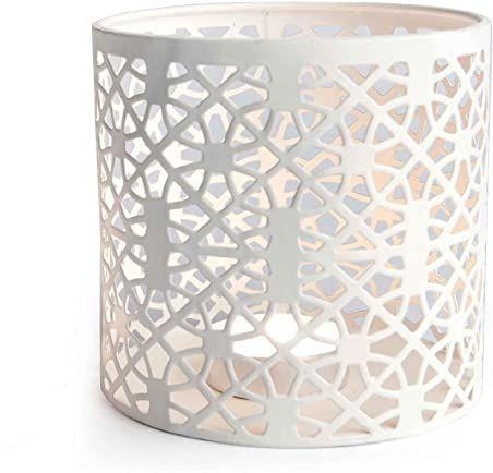 Excelsa latarnia, kształt cylindryczny, metal, biały 7,5 x 7,5 cm Bianco