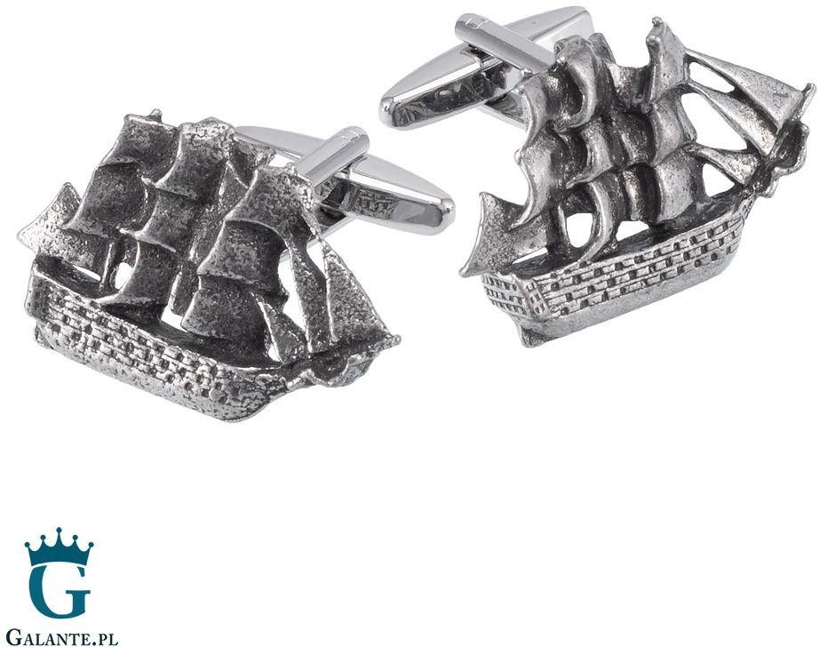 Spinki do mankietów okręt żaglowy retro wcl133