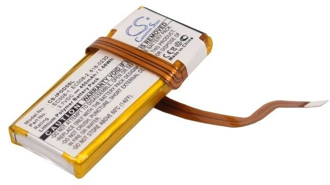 Apple iPod 6th Generation / 616-0029 450mAh 1.67Wh Li-Ion 3.7V (Cameron Sino)
