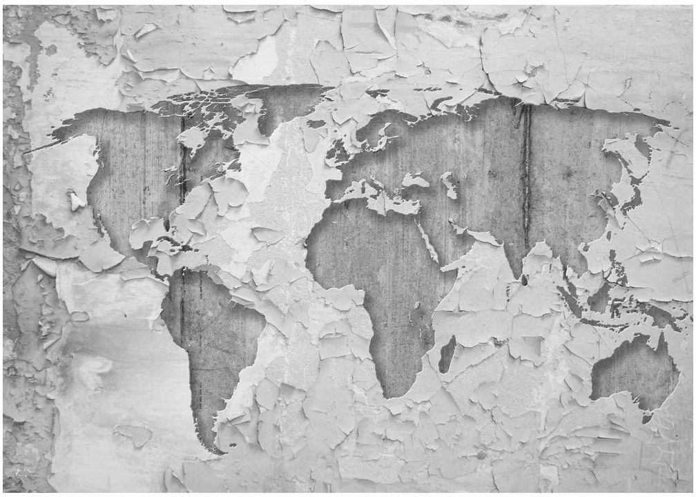 Fototapeta Mapa na tynku 312 x 219 cm