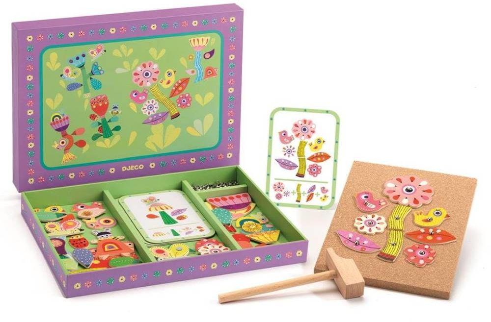 Przybijanka projektowanie ogrodu DJ06643-Djeco, zabawka kreatywna