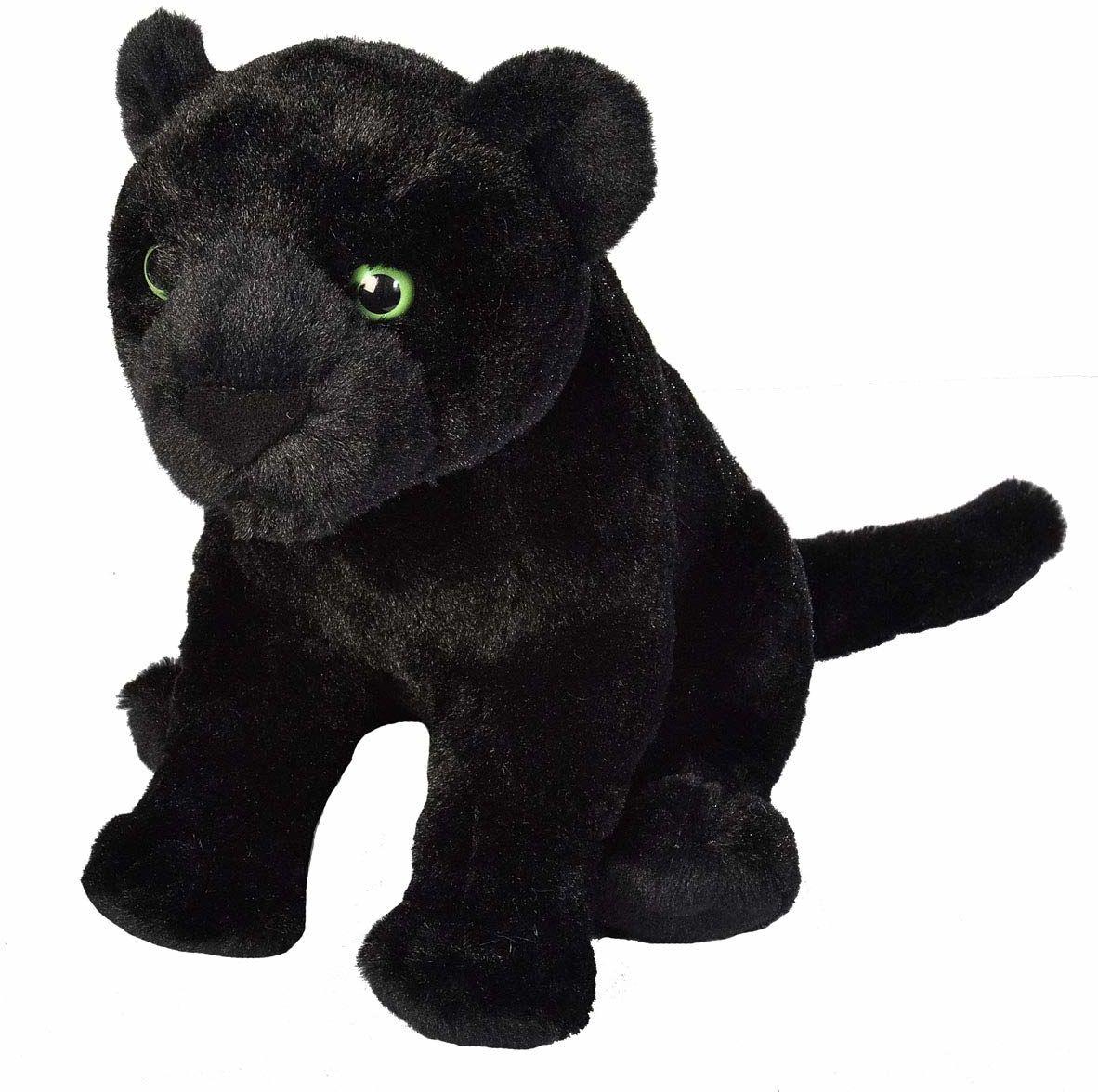 Wild Republic 19414 Czarny Jaguar Plush, Przytulne miękkie zabawki, prezenty dla dzieci, 30 cm