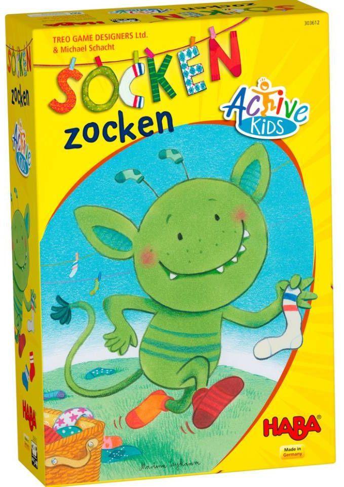 Gra dla dzieci w formacie Active Kids Skarpetkowy potwór 303612-Haba, aktywna zabawa