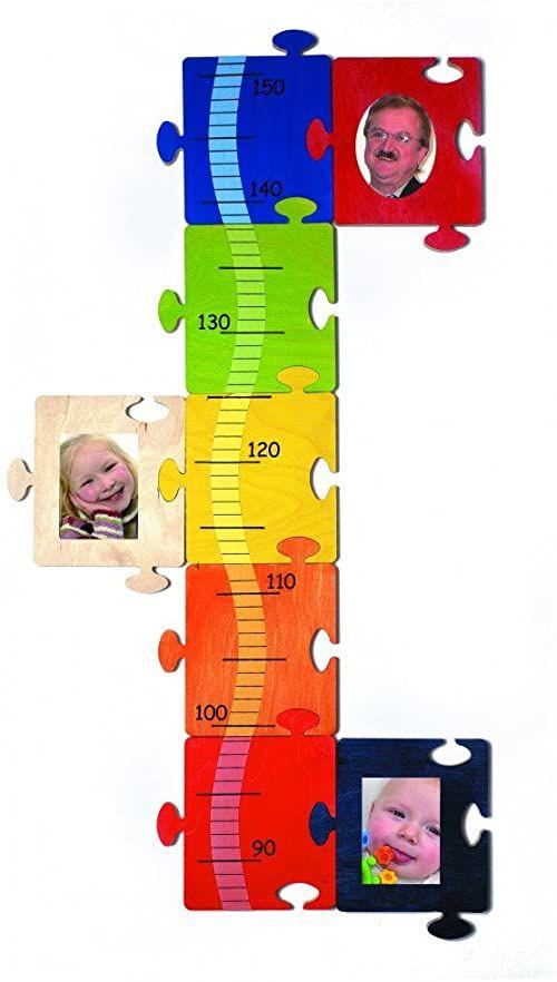 Hess 14611 drewniany obrazek/puzzle wykres wzrostu zabawka dla dzieci, 68 x 36 cm, wielokolorowa