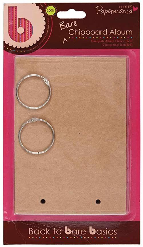 Papermania 17 x 12 cm 6 Bare Basics płyty wiórowe album tabliczka na drzwi, brązowa