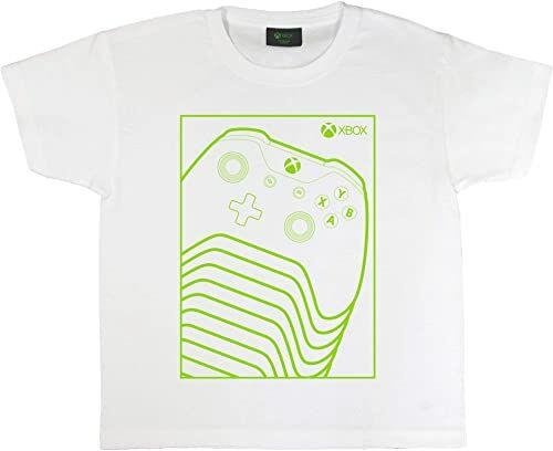 Xbox Green Controller dziewczęcy T-shirt oficjalne towary Wiek 5-15 lat, Xbox One, Xbox Series X, Xbox Series S, prezenty dla graczy, pomysł na prezent urodzinowy