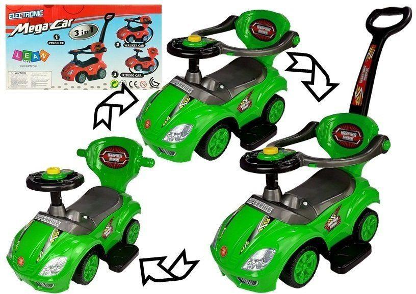 Jeździk z Pchaczem Mega Car 3w1 Zielony