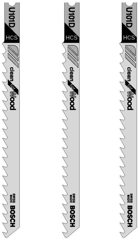 Brzeszczot do wyrzynarki 10 - 45 mm CLEAN FOR WOOD U101D 3 szt. BOSCH