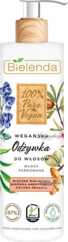Bielenda - 100% Pure Vegan - CONDITIONER FOR COLOURED HAIR - Wegańska odżywka do włosów farbowanych - 240 ml