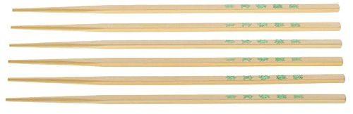 kela Pałeczki azjatyckie 10-częściowy z bambusa, beżowe, 26,5 x 1 x 1 cm