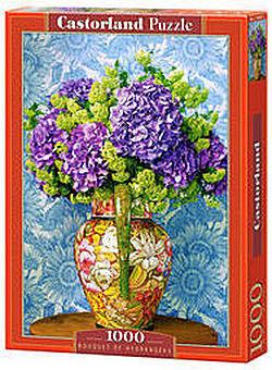Puzzle Castor 1000 - Bukiet Hortensji, Bouquet Of Hydrangeas