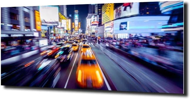 obraz na szkle Nowy Jork, żółte taksówki