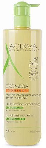 A-Derma Exomega Control olejek emolient po prysznic przeciw drapaniu 750 ml