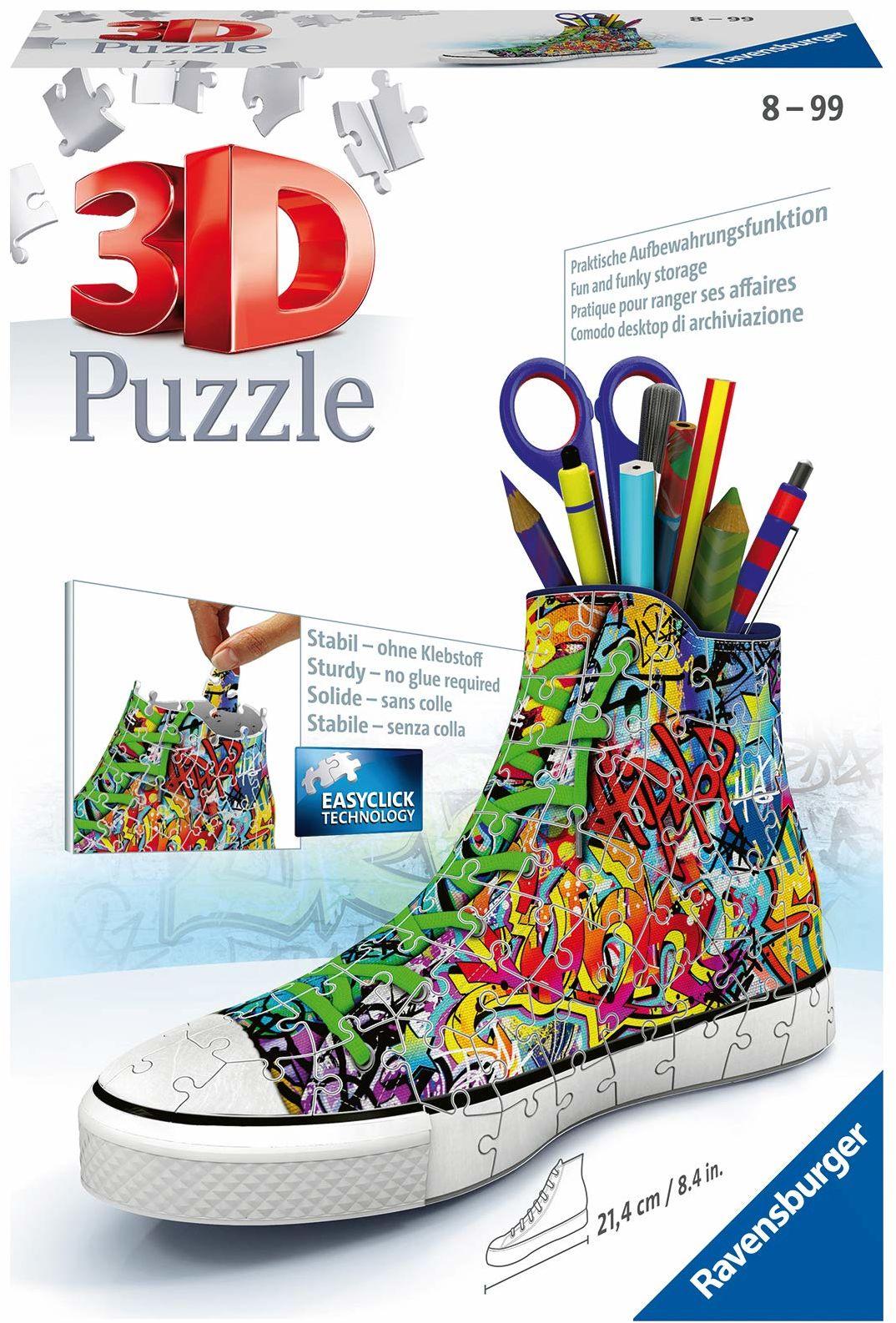 Ravensburger Puzzle 3D 12535 - Sneaker - Styl graffiti - 108 części