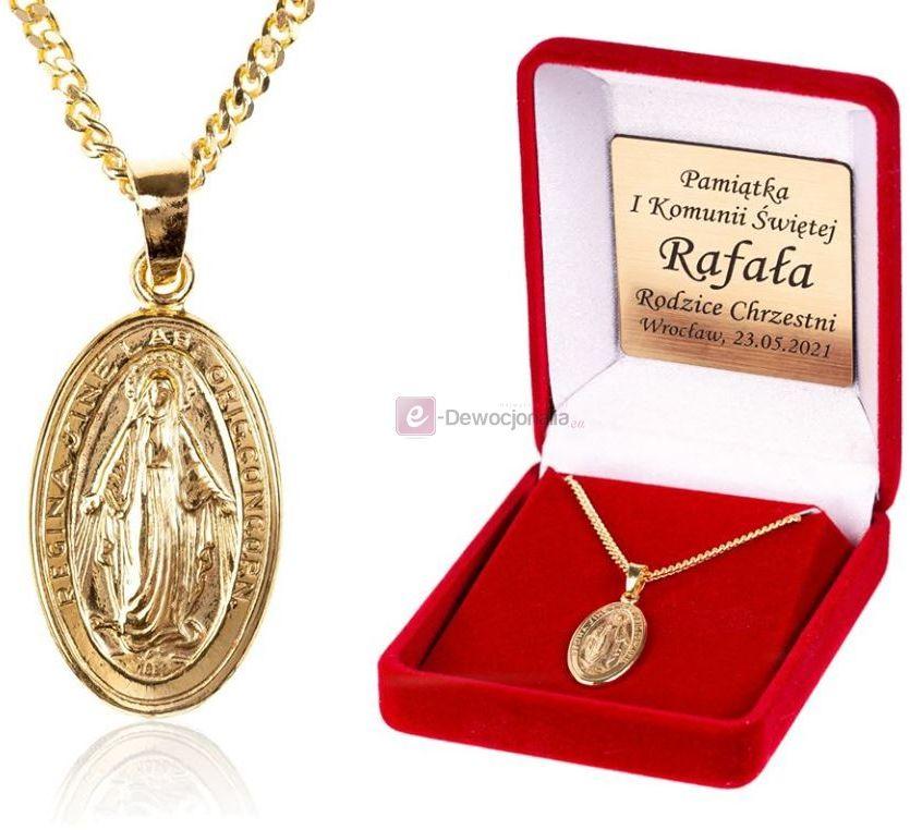 Cudowny Medalik i łańcuszek PANCERKA pr. 925 DEDYKACJA - Pamiątka prezent GRAWER