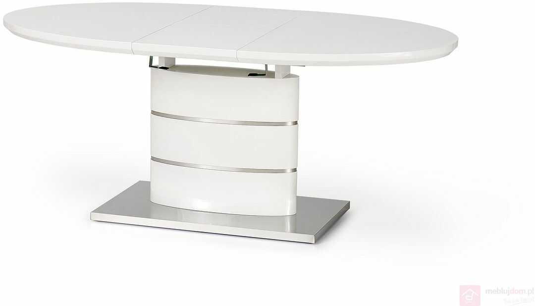 Stół ASPEN Halmar Biały połysk, 90x140-180 cm