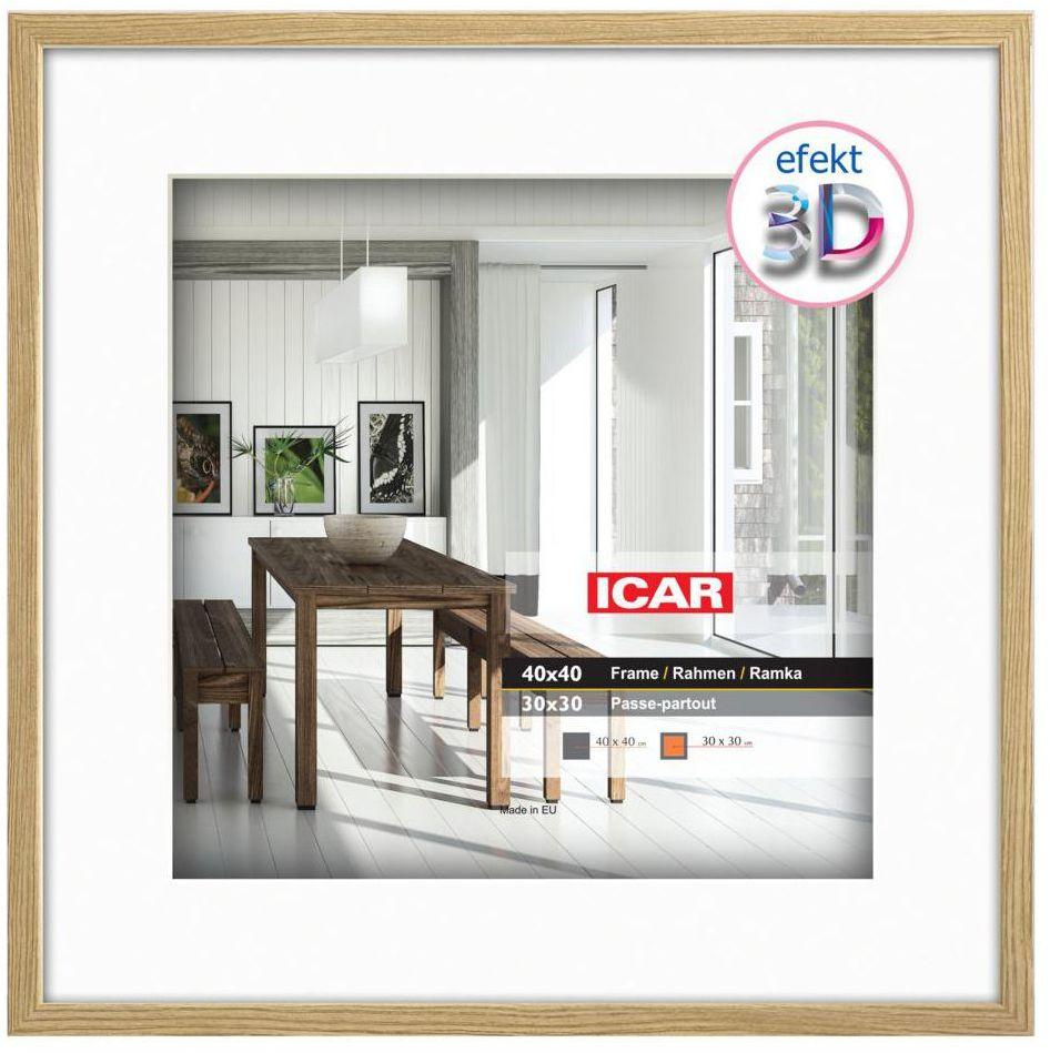 Ramka na zdjęcia Efekt 3D 30 x 30 cm dąb drewniana